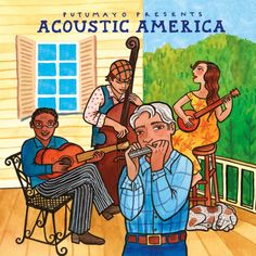 This American roots music mix offers an acoustic taste of our country's rich musical heritage. It's songs are steeped in folk, blues, jazz, country and bluegras Music Mix, New Music, Cd Cover, Album Covers, America Album, Latin American Studies, Trip To Colombia, World Music, Music Lessons