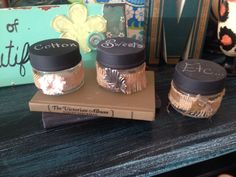 Redeemed candle jars