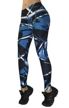 Drakon - Blue and Black Leggings