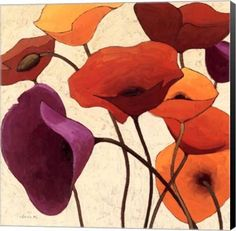 Up One Floral Canvas Wall Art Print by Shirley Novak
