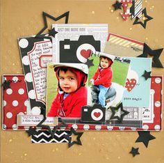 #papercraft #scrapbook #layout.  Pure Magic - Scrapbook.com
