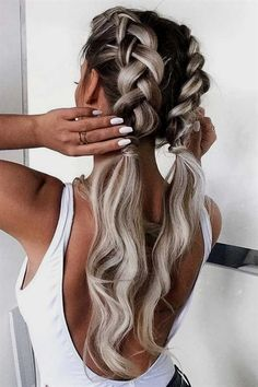 for wedding hair hair styles for long hair down hair flowers hair styles for shoulder length hair in wedding hair hair styles for medium hair length hair jewels hair with combs Box Braids Hairstyles, Pretty Hairstyles, Hairstyles Haircuts, Wedding Hairstyles, Hair Updo, Simple Hairstyles For Long Hair, Half Braided Hairstyles, Hairstyle Braid, Hairstyle Ideas