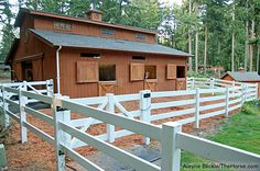 Thinking about using vinyl ranch fencing to create a paddock for your four-legged friend? Get some tips on how to size your horse's paddock from Smart Horse Keeping. Paddock Trail, Horse Paddock, Horse Stables, Horse Barns, My Horse, Dream Stables, Dream Barn, Horse Shelter, Small Barns