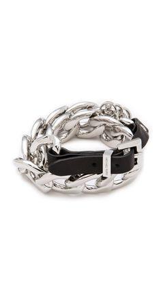 Michael Kors Double Wrap Link Bracelet