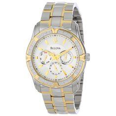 Bulova 98E112 Men's Diamond Grey Dial Two Tone Stainless Steel Watch,