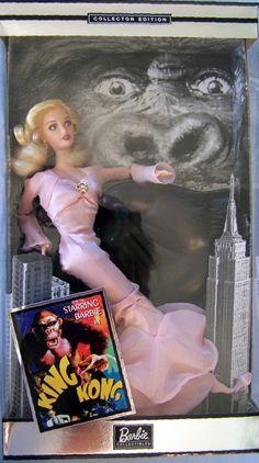 "2002 POP CULTURE STARRING BARBIE IN KING KONG 11 1/2"" DOLL NRFB #Mattel"