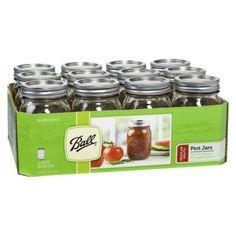 Ball Regular Mouth Pint Jars - 12 Count (16oz), $8.50