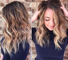 Frisuren und Haarfarben 2017 - Balayage Färbetechnik bleibt im Trend