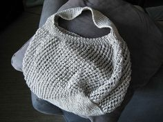 Ilene Bag - A very stretchy bag with comfortable wide strap, choose a washable yarn if you go to market! - Hannah Ingalls