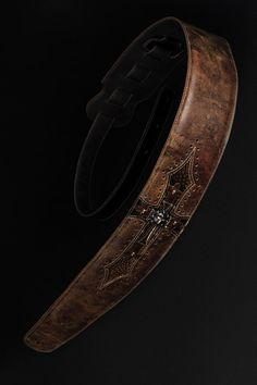 Leather Guitar Strap Brown Guitar Strap by EthosCustomBrands