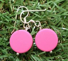 Charlotte Resin Statement Coin Dangle Drop by scooterbeads on Etsy