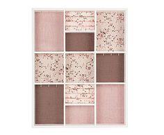 Joyero de pared en madera de pino - rosa