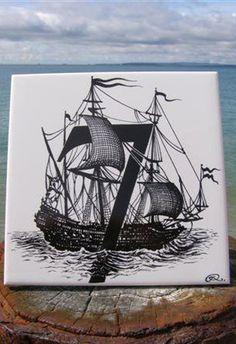 7 - Rory Dobner Number Art Ceramic Tile