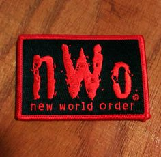 Vintage New World Order Embroidered Patch by batchesOpatches