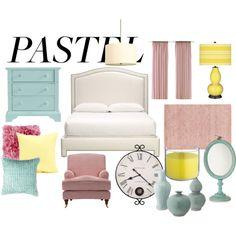"""A Sweet Pastel Bedroom"" by szantinajanik on Polyvore"