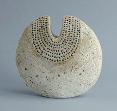 """freeformsusa: """" Alan Wallwork, own studio, UK Unique stoneware sculptural form with matte grey glaze. Available for purchase. Freeforms """""""