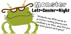 Free!!! Too cute!!! Left right center card game!!!! My students will love this reinforcer!!!!!