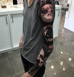 Nightmare Before Christmas Sleeve http://tattooideas247.com/christmas-nightmare/