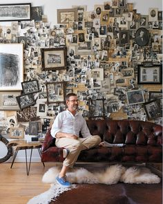 In the Chicago home of collector, filmmaker, and prop stylist Jeffrey Moss…