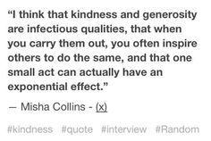 "From Jonathan Barsana: ""Misha Collins on kindness..."""