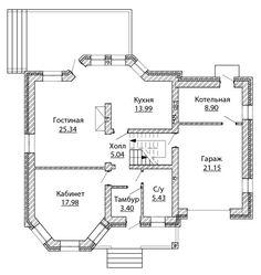 Проект дома C-169 в Казани - Арх.бюро в Казани