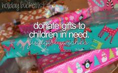 I'm pretty sure I've donated toys to needy children before & I've definitely donated to St. Jude Children's Hospital!