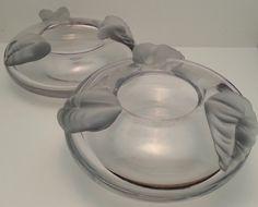 Mireau Crystal Art Glass Ash Tray Clear by Snowyowltreasures