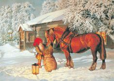 Here you see a lamp for sale on Eddie Bowersons home page. It is self-lit by the deep desire to see and can sit in the snow until it is covered by snow. The house is free. Christmas Mood, Vintage Christmas, Baumgarten, Elves And Fairies, Picture Postcards, Scandinavian Christmas, Penny Black, Mythical Creatures, Vintage Postcards