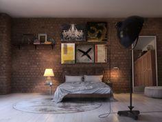 Loft badroom - Галерея 3ddd.ru