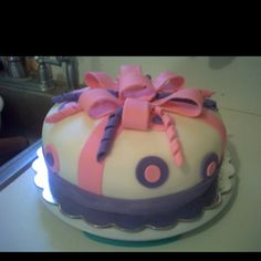 Pink and purple cake by Dessert First! So pretty!