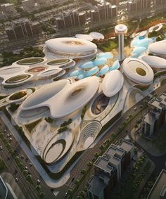 zaha hadid architects finalizes plans for aljada's 'central .- zaha hadid architects finalizes plans for major leisure and entertainment venue in sharjah - Ancient Greek Architecture, Chinese Architecture, Architecture Plan, Sustainable Architecture, Amazing Architecture, Landscape Architecture, Landscape Design, Pavilion Architecture, Residential Architecture