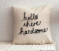 Home Sweet Home pillow - Hand Drawn Linen Pillow Cover - Decorative ...