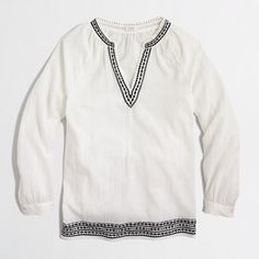 J.Crew Factory - Factory petite embroidered tunic top