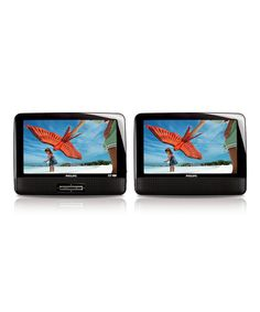 Loving this Philips Refurbished 9'' Dual LCD Screen Portable DVD Player Set on #zulily! #zulilyfinds