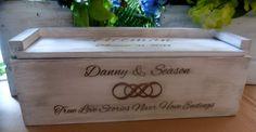 Wine Box, Infinity Knot, Wedding Wine Box, Wine Box Ceremony, Time Capsule, Personalized WInebox, Rustic Wedding Wine box, Love Letter Box