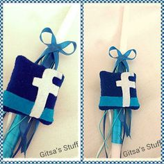 Handmade.. Easter Candle.. Blue.. Facebook..