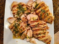 Grilled lemon-parsley chicken breasts