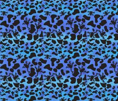 blue poison dart frog by pamelachi, click to purchase fabric