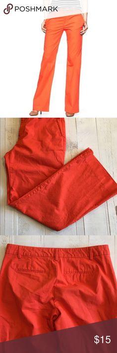 GAP Perfect Khaki Pants in Lava Orange GAP Perfect Khaki Pants in Lava Orange GAP Pants