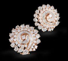 earclipings-diamonds,Rose and hwite golden- minimalist/beautifull