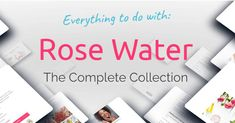 Rose water's a rose infused water full of natural vitamins and is packed with tons of benefits. Find out everything you could ever know on rose water here.