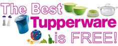 Get your FREE Tupperware today by hosting a Catalog, Online or In-Home party. Contact me now to get started from anywhere in the USA