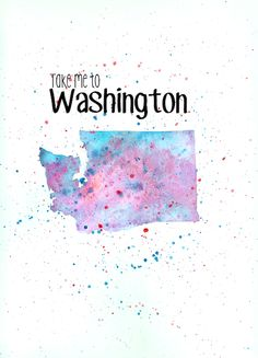 Washington Watercolor Painting DIY