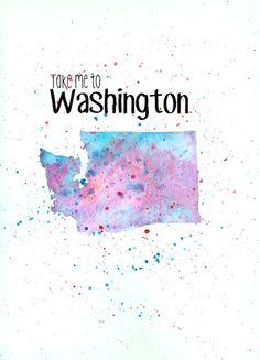 Washington Watercolor Painting DIY