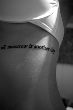 After all, tomorrow is another day~Scarlett O'hara