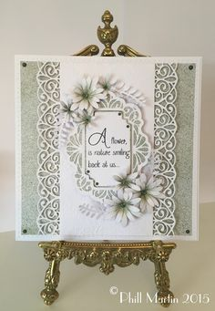 Phills' Crafty Place, Filigree card with flowers