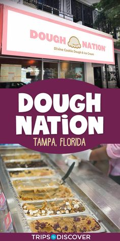 Satisfy Your Sweet Tooth at Dough Nation in Tampa, Florida Places In Florida, Florida Vacation, Florida Travel, Beach Travel, Florida Trips, Usa Travel, Clearwater Beach Florida, Sarasota Florida, Food Places