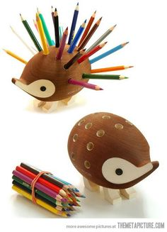 Porcupine Pencil Holder… I must have this!