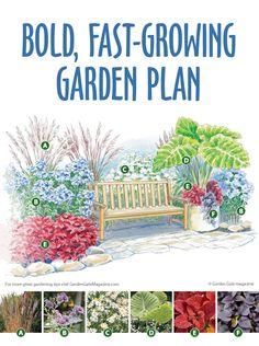Garden plan: Small space, big impact #gardenplan