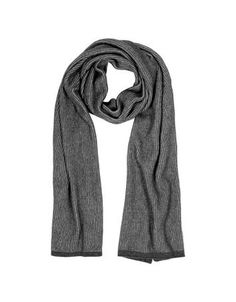 **New arrival** -Gray/Black Stripe Wool Blend Long Scarf -   Gray/Black Stripe Wool Blend Long Scarf crafted in a two-tone wool blend adds that touch of warmth and elegance to your ensemble. Featuring hues of grey and black and a finished edge. 35x175cm. Made in Italy.